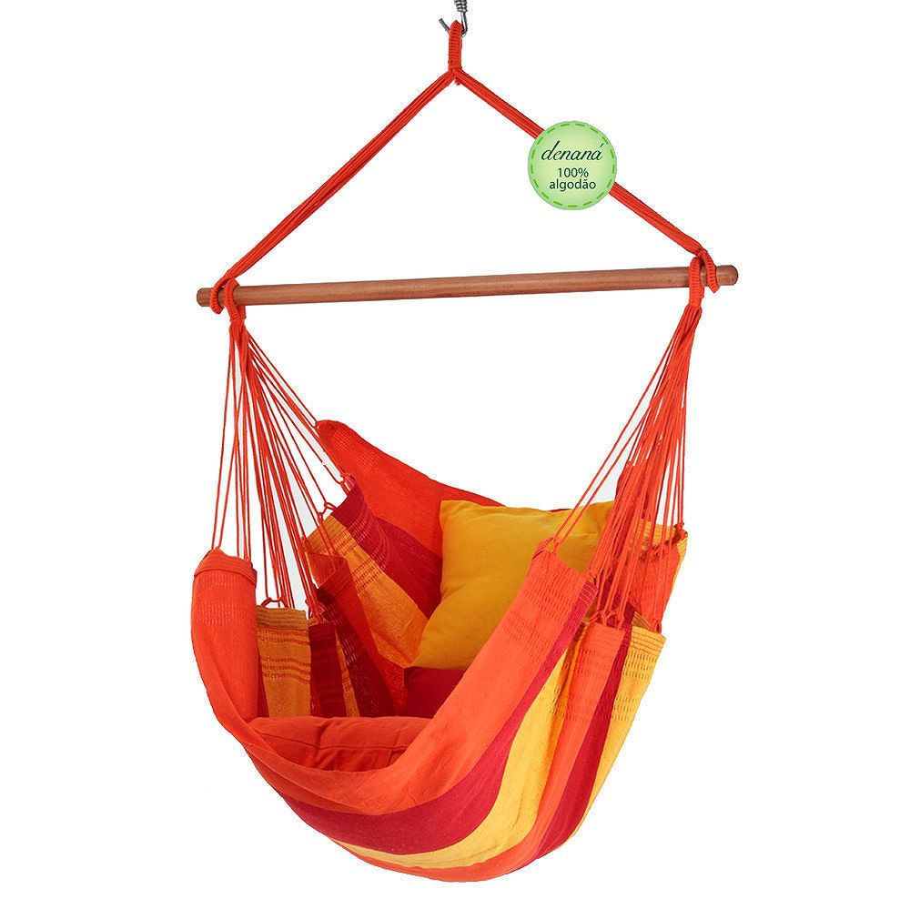 Hammock chair hammock chair acerola red yellow cotton denana
