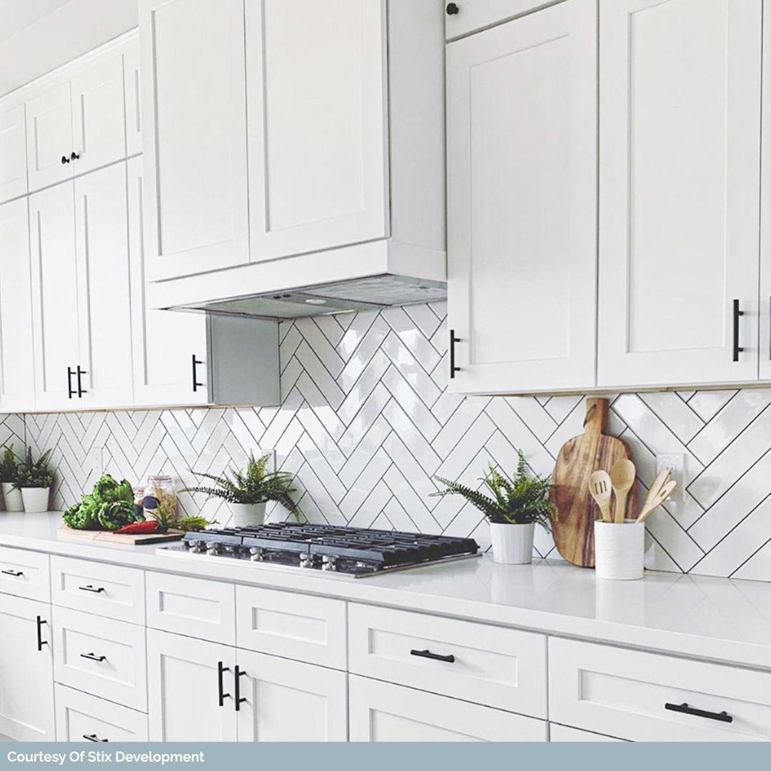 Basic White 4x12 Ceramic Subway Tile Polished Kitchen Backsplash Trends Kitchen Backsplash Designs Kitchen Tiles Design