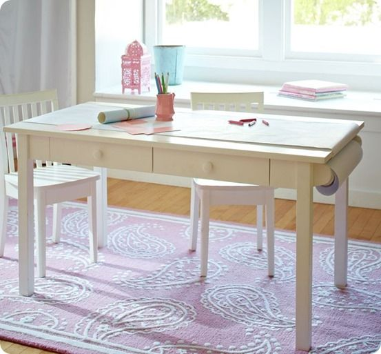 Kids Art Table With Paper Roll