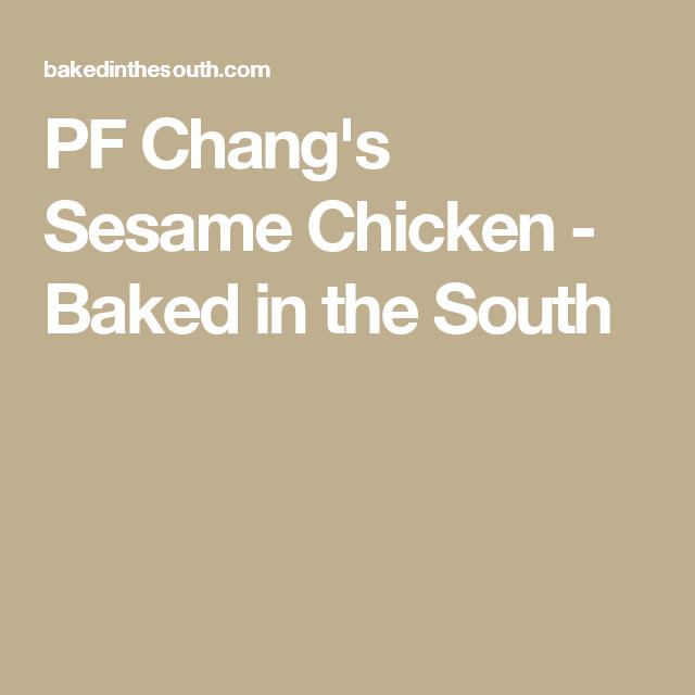 pf chang's sesame chicken  recipe  sesame chicken baked