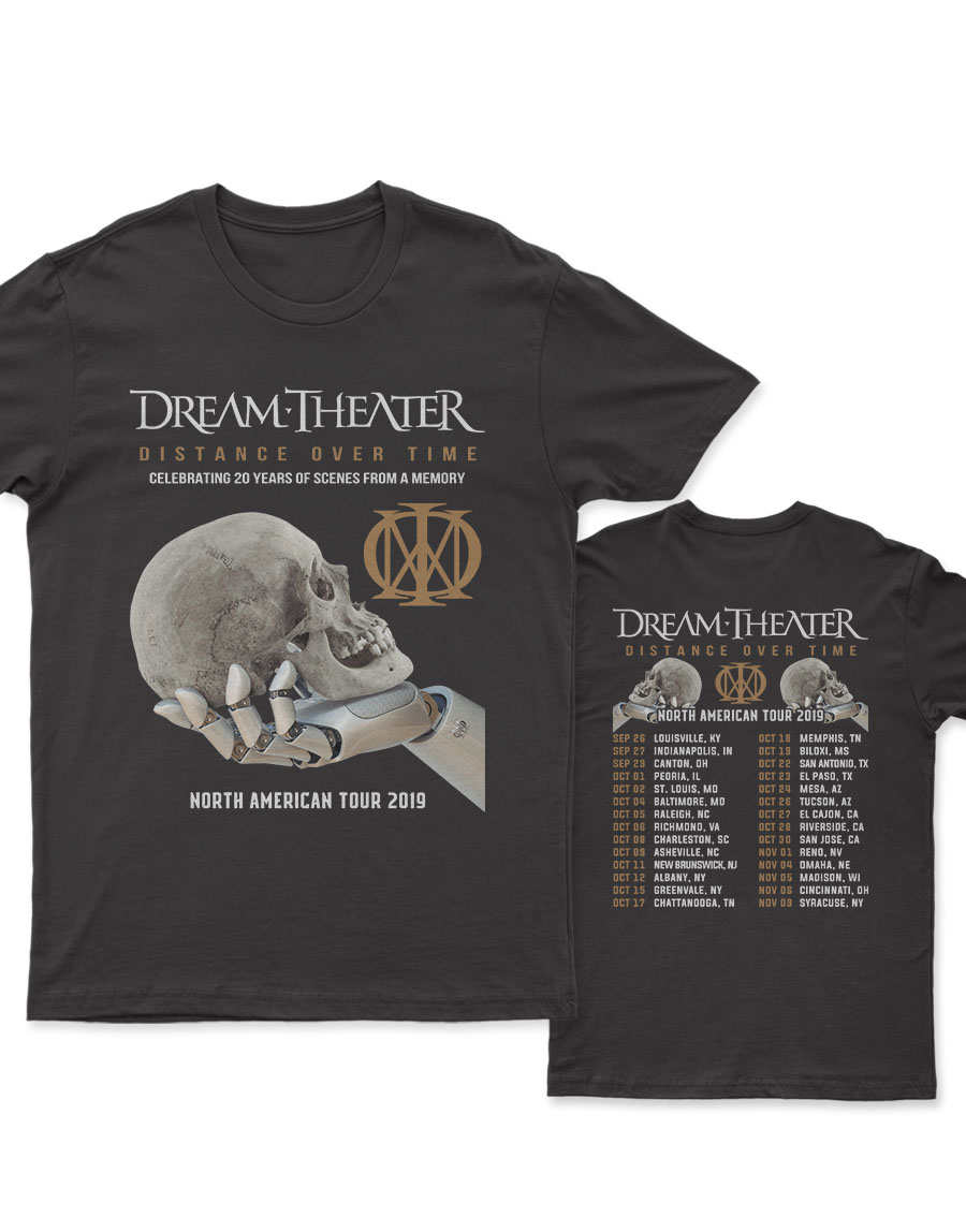 Dream Theater Distance Over Time Tour 2019 New 2 Sides T Shirt Mypoptees Pria