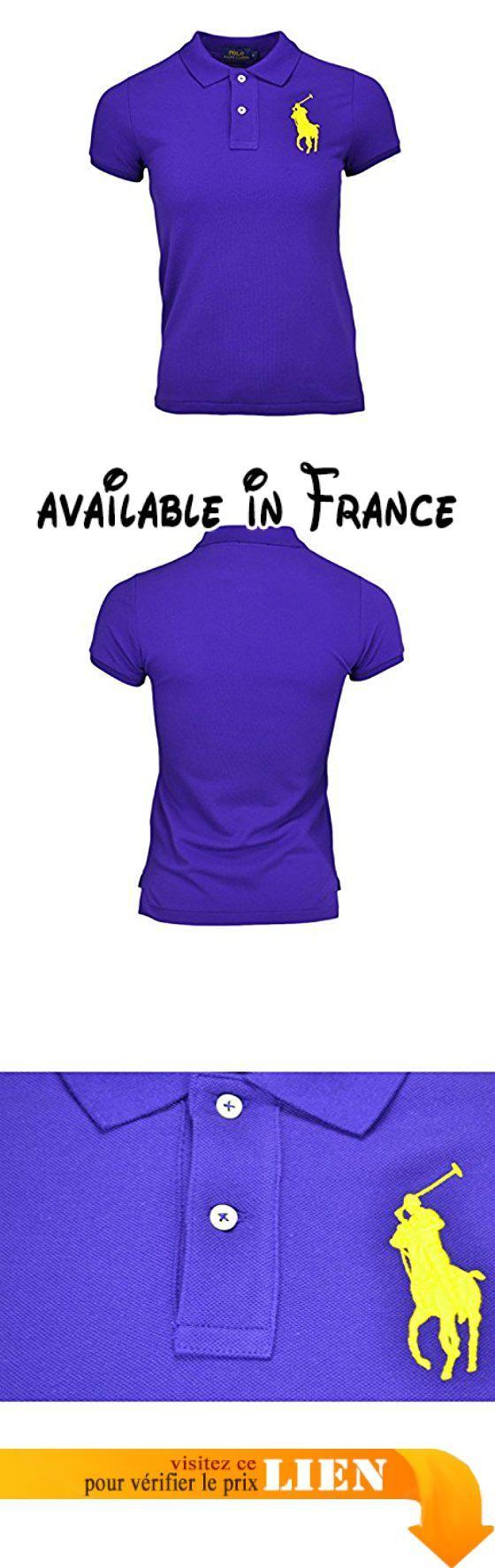 B01M17RK2C   Polo manches courtes Ralph Lauren Big Poney violet pour femme. 287a8841d17
