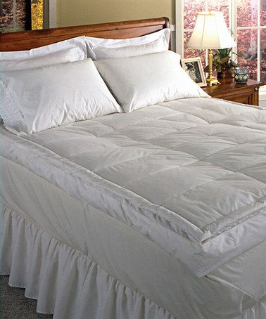 White Luxurious Feather Bed Down Topper Zulily Luxury Bedding House Styles Best Mattress