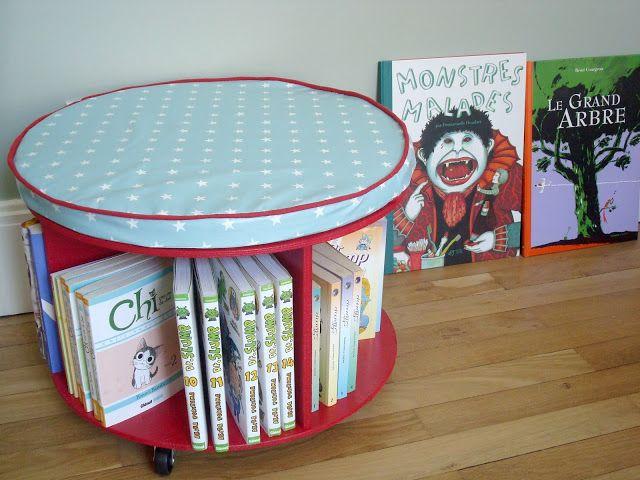 diy tuto biblioth que roulettes partir d 39 un. Black Bedroom Furniture Sets. Home Design Ideas