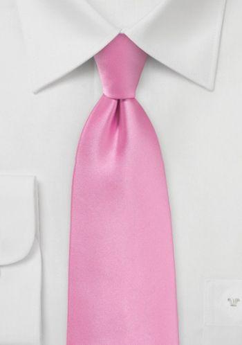 Mikrofaser-Businesskrawatte einfarbig pink