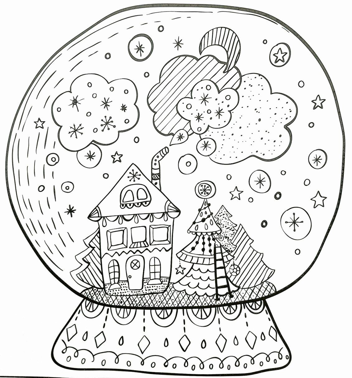 Forget Me Not Coloring Page Luxury Uk Snow Globe Coloring Page Daily1p In 2020 Christmas Coloring Books Coloring Pages Coloring Books