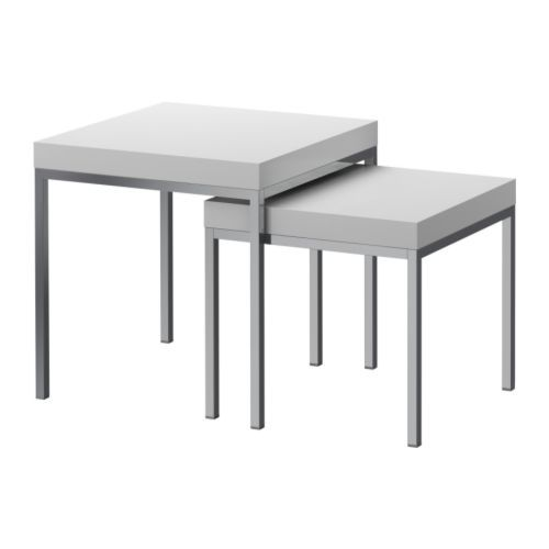 KLUBBO Nesting Tables, Set Of 2 IKEA. Also For Porch, Along With Gray Rug  And Pink Chairs. We Are Furnishing The Entire Porch For Under 200 Dollars.