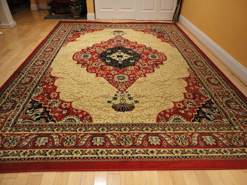 Oriental Red Area Rug Extra Large Size Red Persian Rug Red