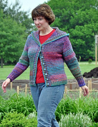 Free Knitting Pattern Womens Cardigans Undercurrent Hooded