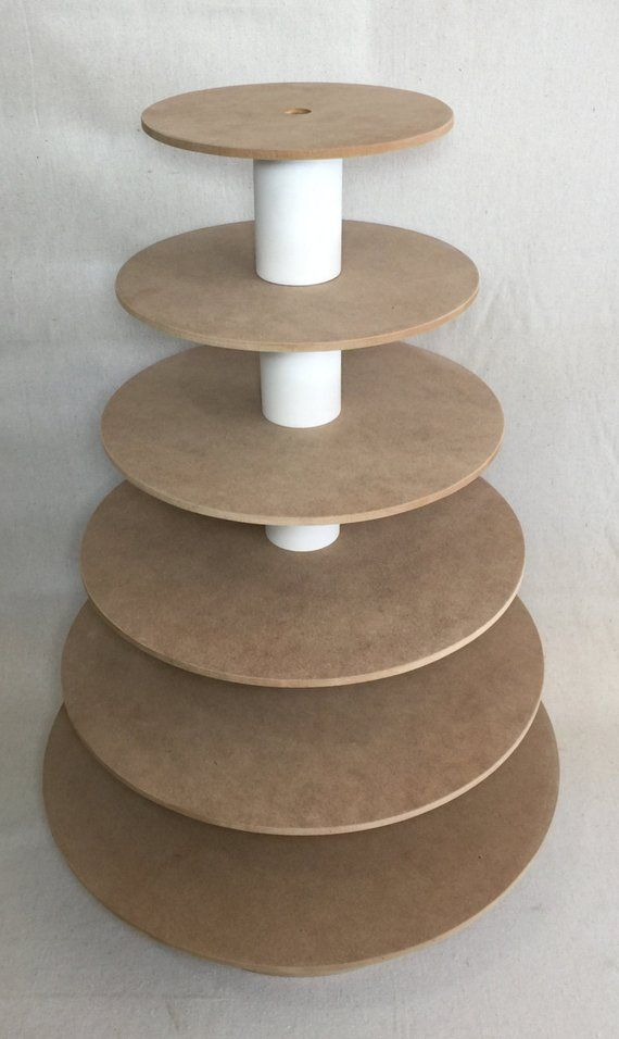 6 Tier Round Custom Made Unfinished Cupcake Stand.