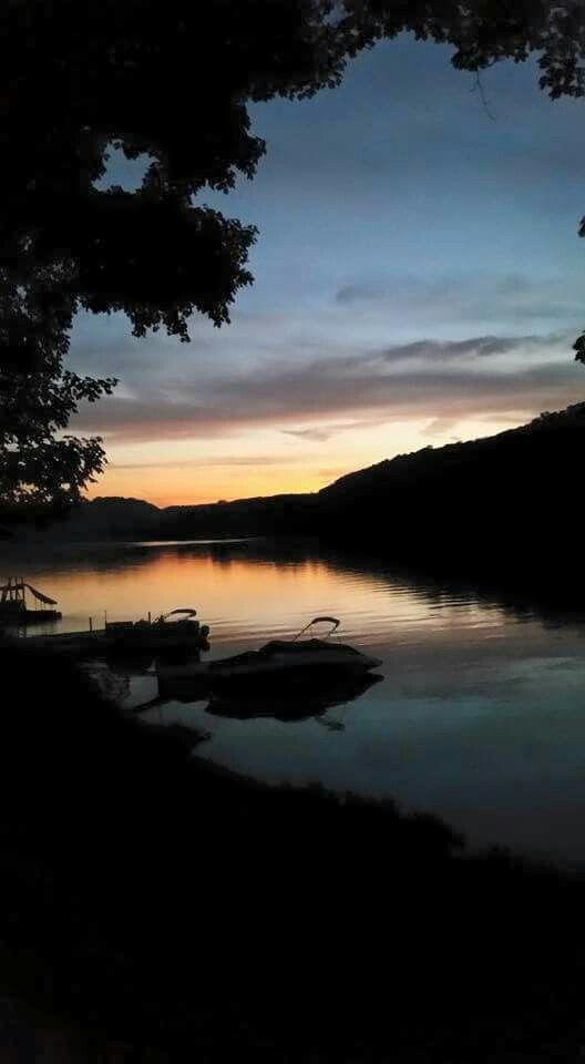 Allegheny River sunset. Leechburg PA