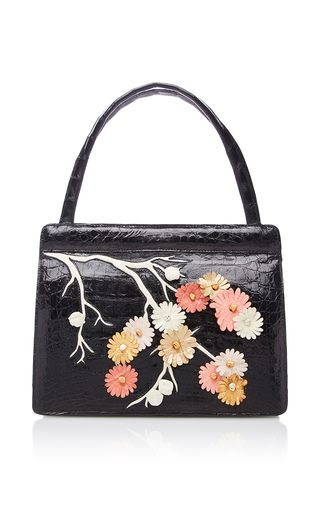 Nancy Gonzalez Flower top handle bag.