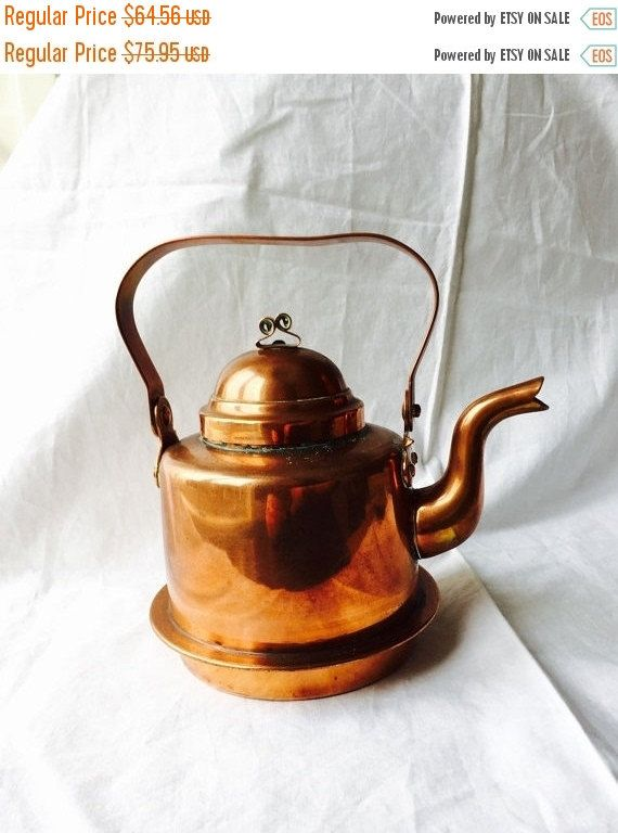 VINTAGE COPPER KETTLE Skultuna 1607 1
