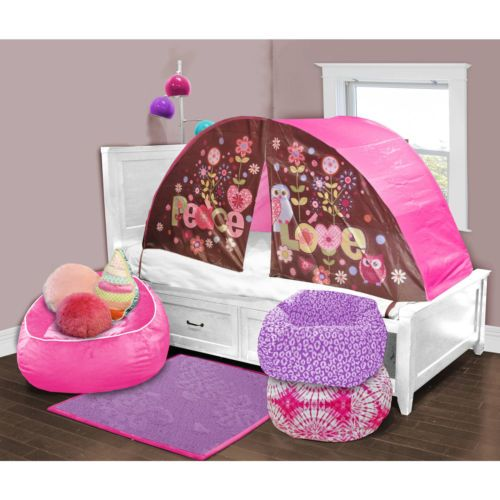 Tents For Kids Beds Owl Privacy Pop Tent Twin Girls Toddler Canopy