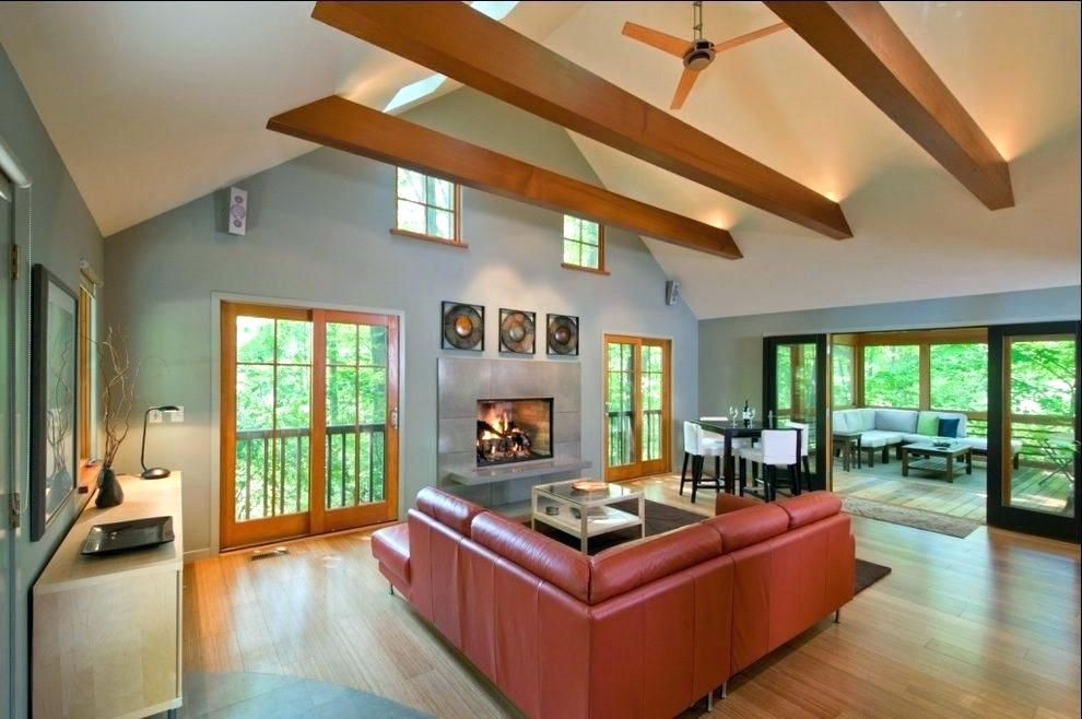 Vaulted Ceiling With Exposed Beams Exposed Beam Ceiling Lighting