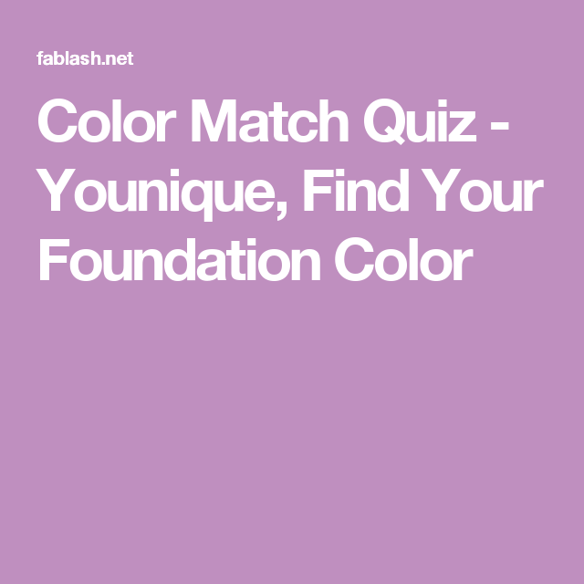 find your match quiz