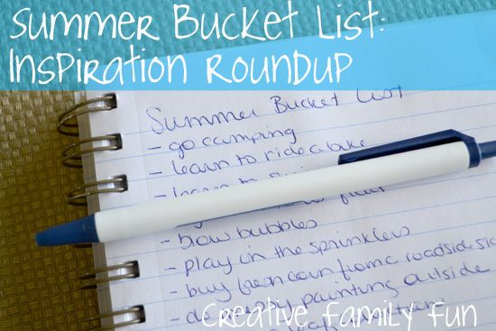 Are you making a summer bucket list this year? Here is a round-up of fun inspiration! What is the #1 thing on your list?