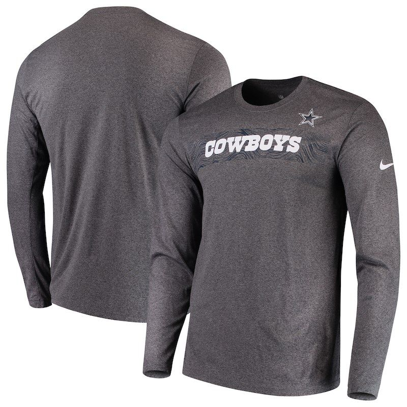 Dallas Cowboys Nike Sideline Seismic Legend Long Sleeve T-Shirt – Heathered  Charcoal Legends f075e9c5d