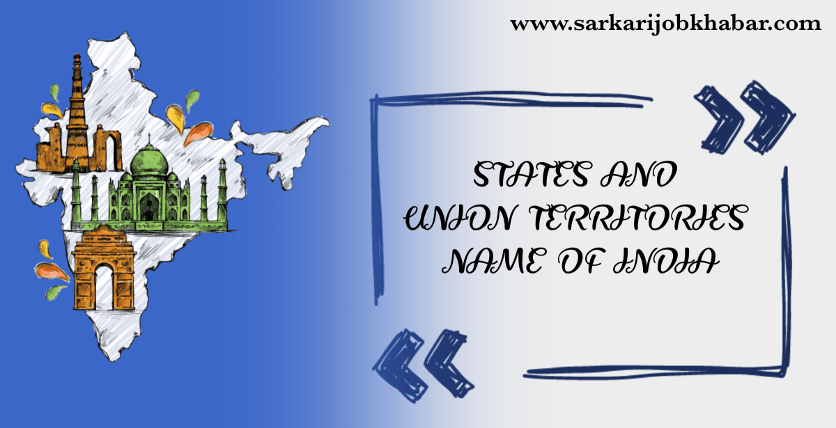 States and Union Territories of India in 2020 Union