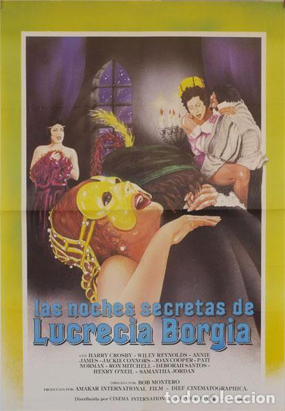 ORIGINAL FILM POSTER: THE SECRET NIGHTS OF LUCRECIA BORGIA (Cinema - Various)