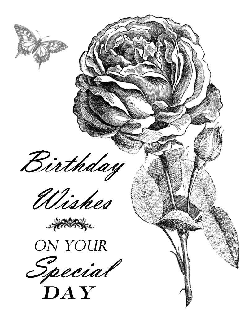 Free Printable - Birthday WIshes  Geburtstag wünsche