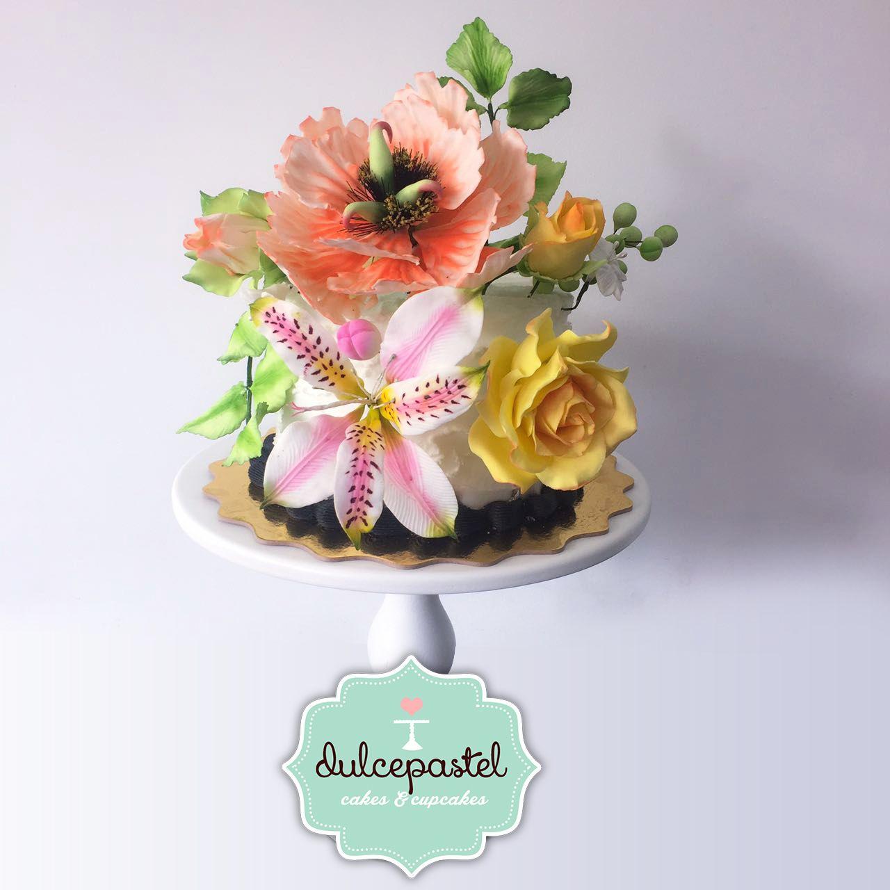 Flores de Azúcar - Sugar Flowers - Torta de Flores
