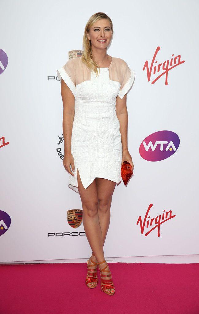 Maria Sharapova Photos Photos Wta Pre Wimbledon Party Maria Sharapova Maria Sharapova Photos White Short Dress