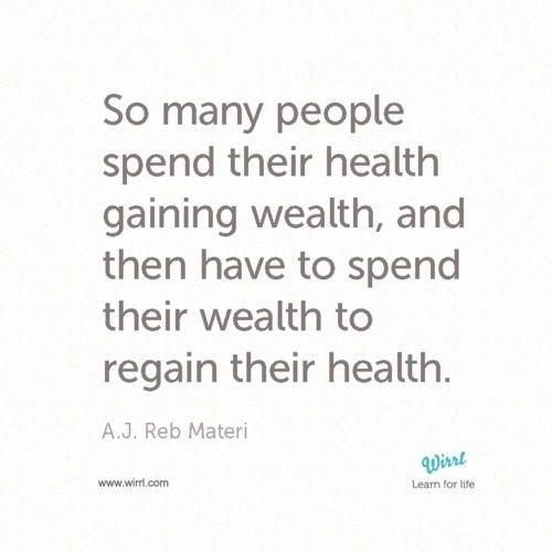 A Timely Quote For World Health Day Dont Work Too Hard For The