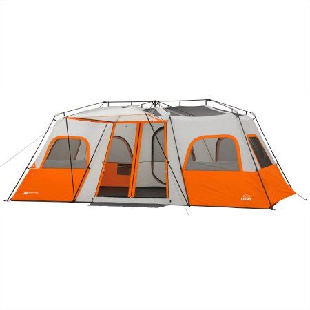 $180 Ozark Trail 18  x 10u0027 Instant Cabin Tent with Integrated Led Light Sleeps 12 Image 2 of 16  sc 1 st  Pinterest & $180 Ozark Trail 18