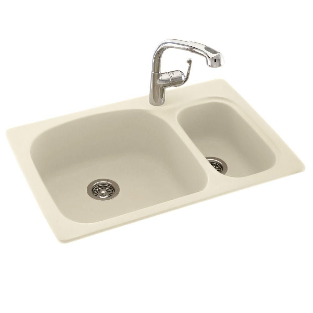 1 Hole Large Small Double Bowl Kitchen Sink