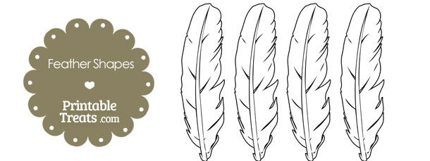 Printable Feather Shape Templates Printable Treats Com Shape Templates Feather Template Indian Headband