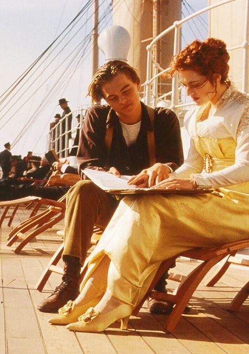 titanic deck scene titanic movie leonardo dicaprio titanic