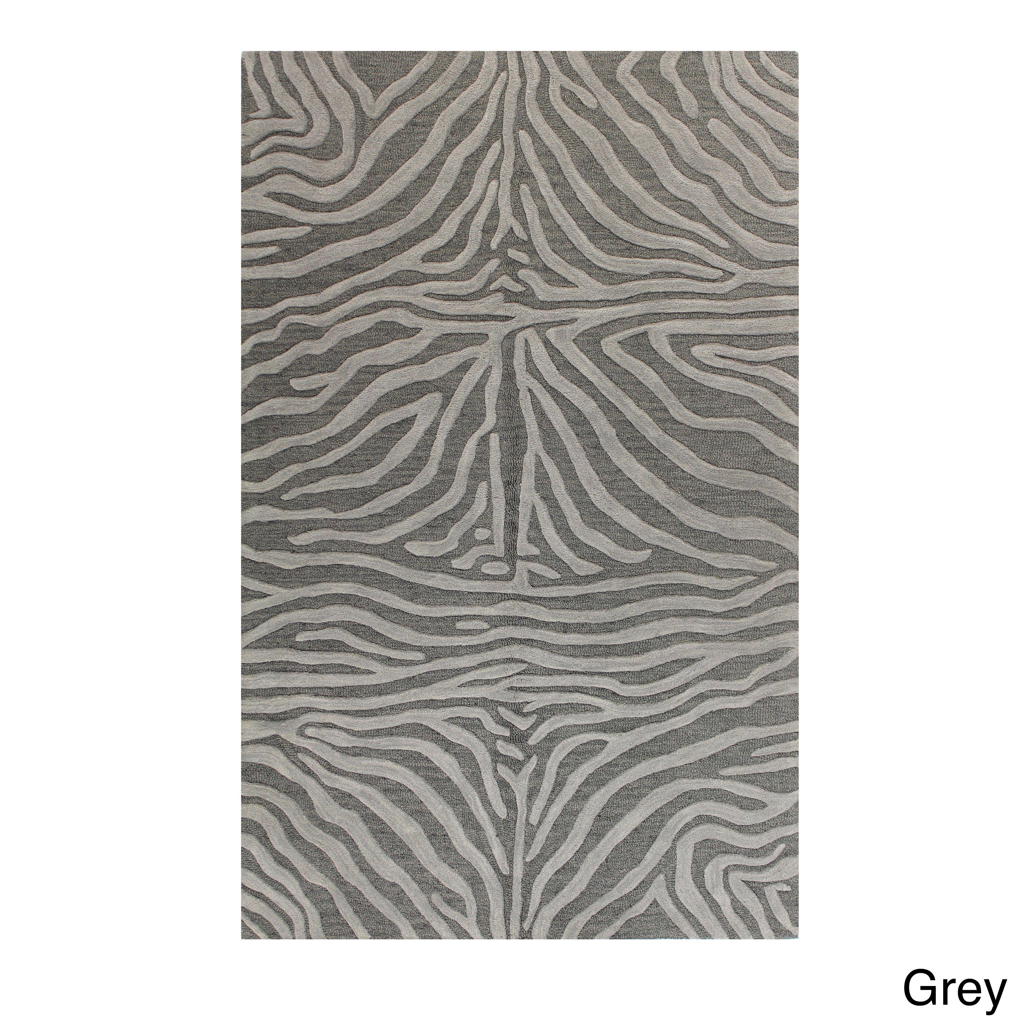 Marissa Animal Print Tufted Wool Area Rug 4 X 6