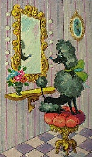 Vintage Poodle Illustration