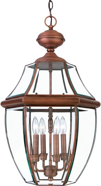 quoizel ny1180ac aged copper extra large hanging lantern from the