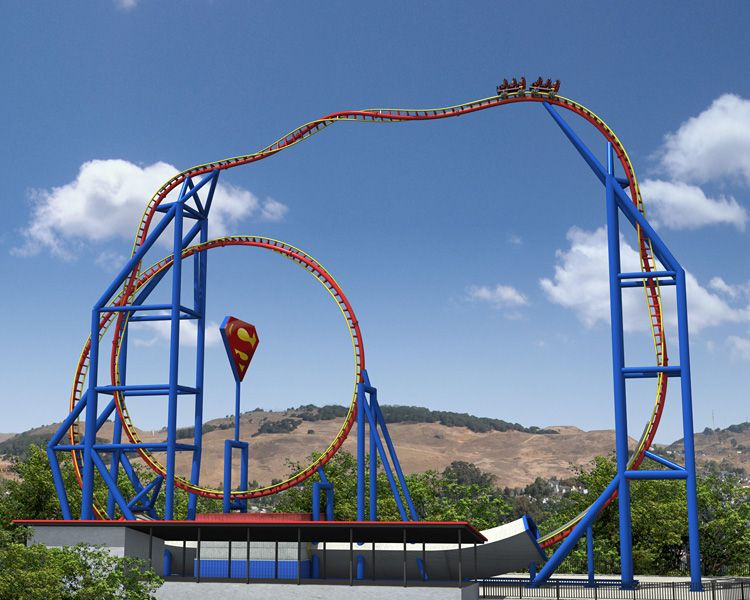 The Reopening Of Superman Escape From Krypton At Six Flags Magic Mountain Crazy Roller Coaster Theme Parks Rides Roller Coaster