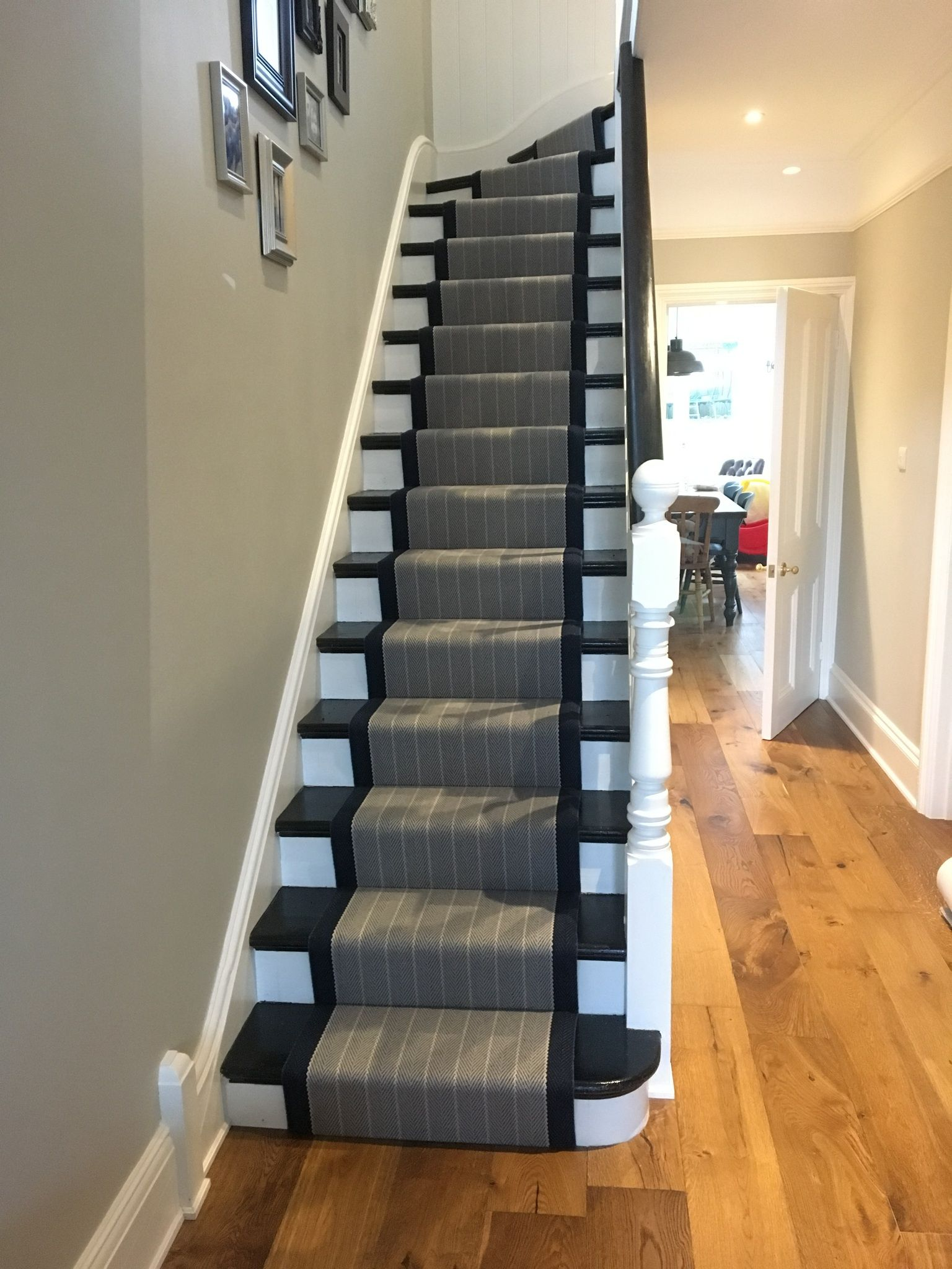 Roger Oates Runner Fitted To Hall Way Stairs And Landing By Ben Champness For Higherground Camberley Higherground Co Uk Stairs Home Home Decor