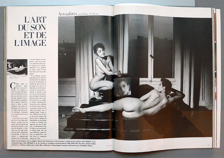 """French Vogue, © Helmut Newton """"Pages of the Glossies"""" 2015"""