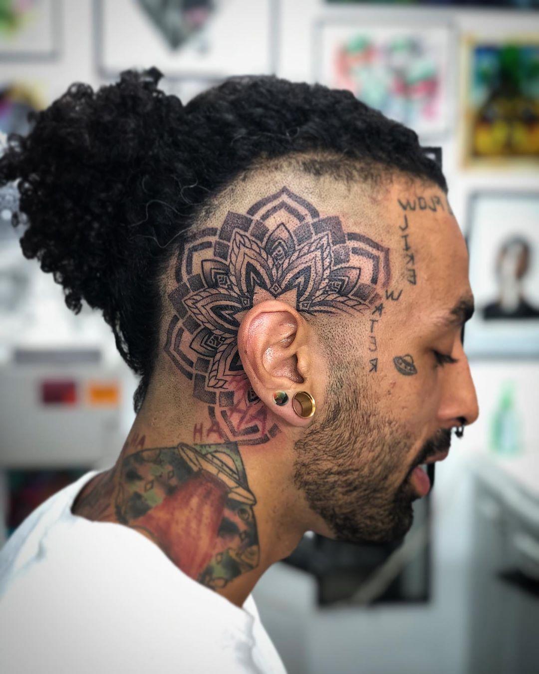 Mandala Tattoo For Men Mandala Tattoo Men Back Of Neck Tattoo Men Mandala Tattoo