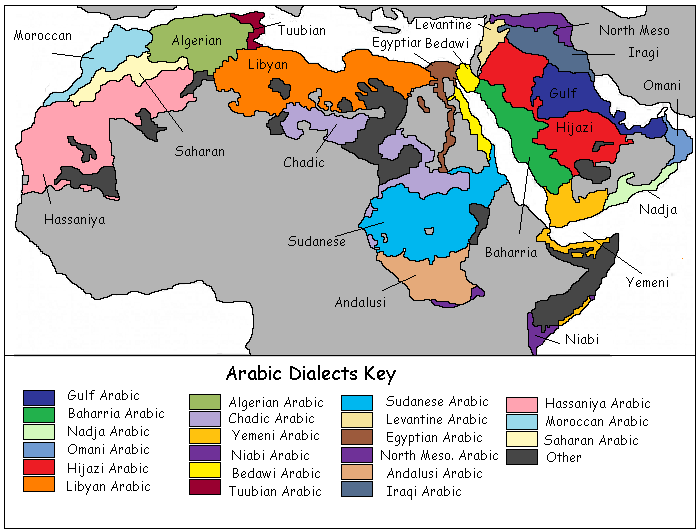 learn arabic dialects from around the world
