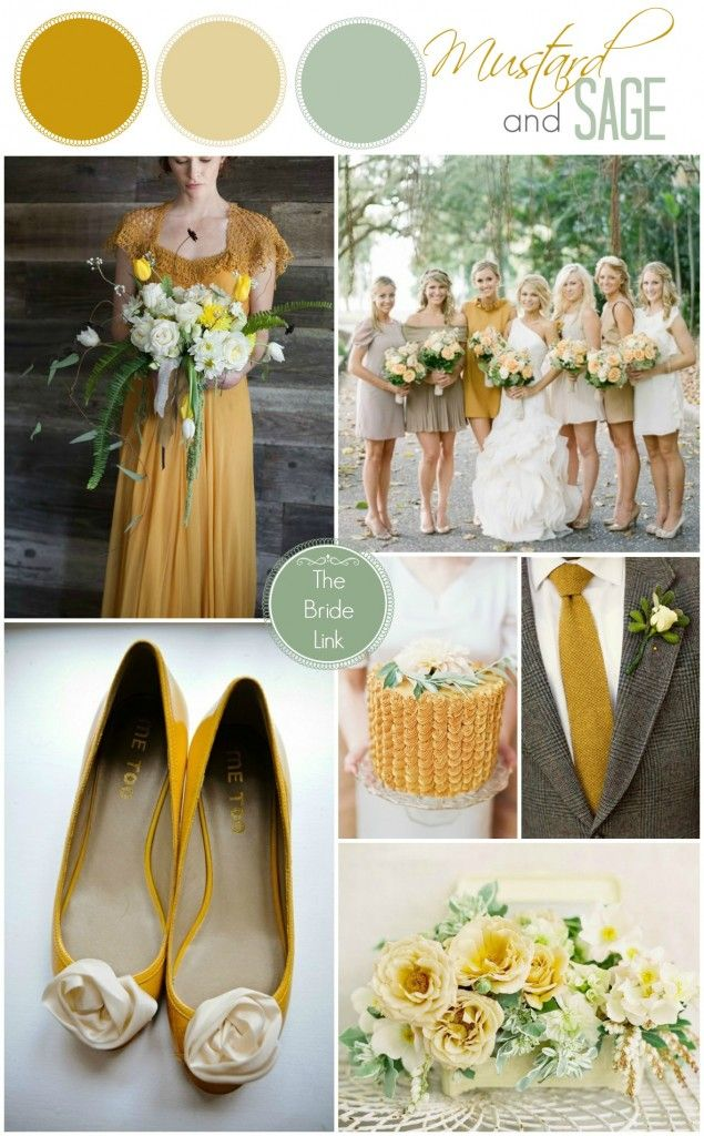 Mustard And Sage Fall Wedding Color Palettes Pinterest