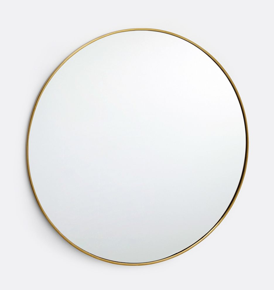 30 Oil Rubbed Bronze Round Metal Framed Mirror Rejuvenation Metal Frame Mirror Mirror Frames Elegant Pendant Oil rubbed bronze round mirror