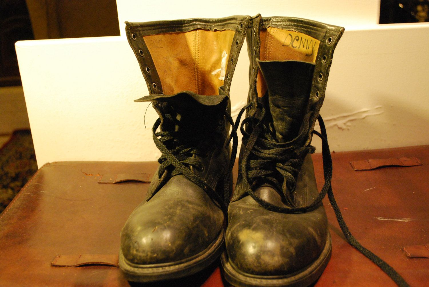 Vintage Steel Toe Combat Boots, Steampunk Engineer