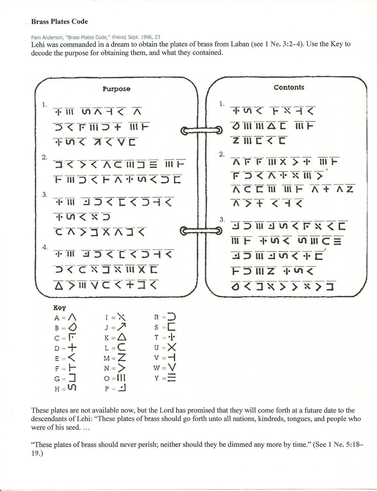 Book Of Mormon lesson Manual