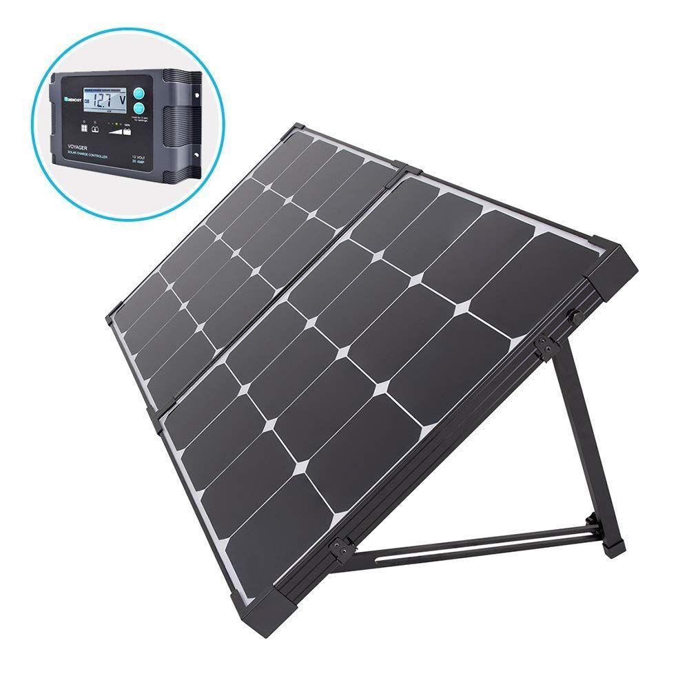 Renogy 100 Watt Eclipse Monocrystalline Solar Suitcase Charge 20a Voyager Waterproof Controller 100w Waterproo In 2020 Solar Panels Solar Power Kits Best Solar Panels