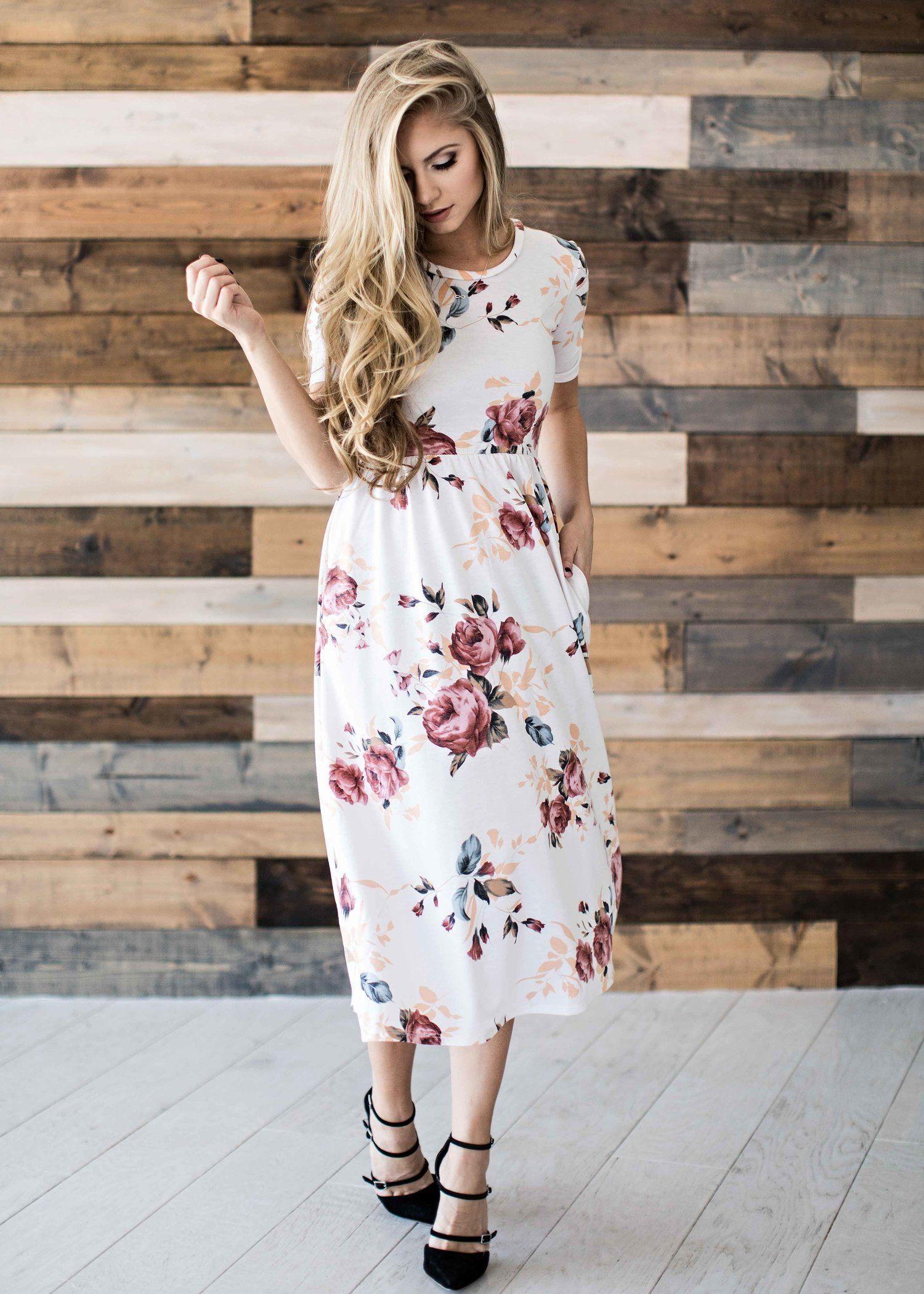 Floral Floral Dress Blonde Style Easter Dress Fashion Womens Fashion Jessakae Floral Dress Outfits White Floral Print Dress White Floral Dress Outfit [ 2100 x 1500 Pixel ]