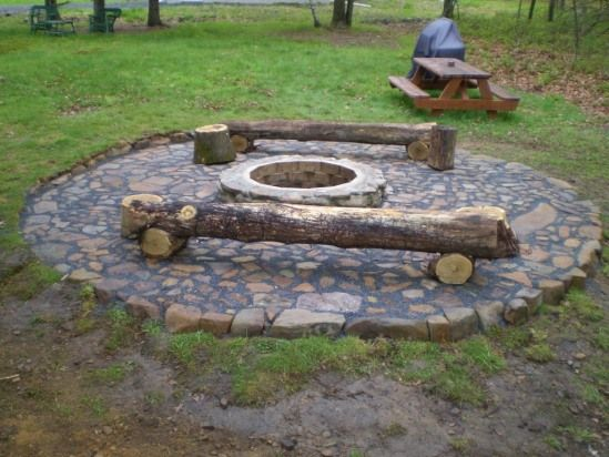 Homemade rock fire pit incoming search terms home made for Backyard rock fire pit ideas