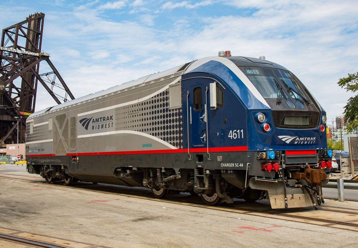 Siemens Charger Amtrak Train Engine Locomotive