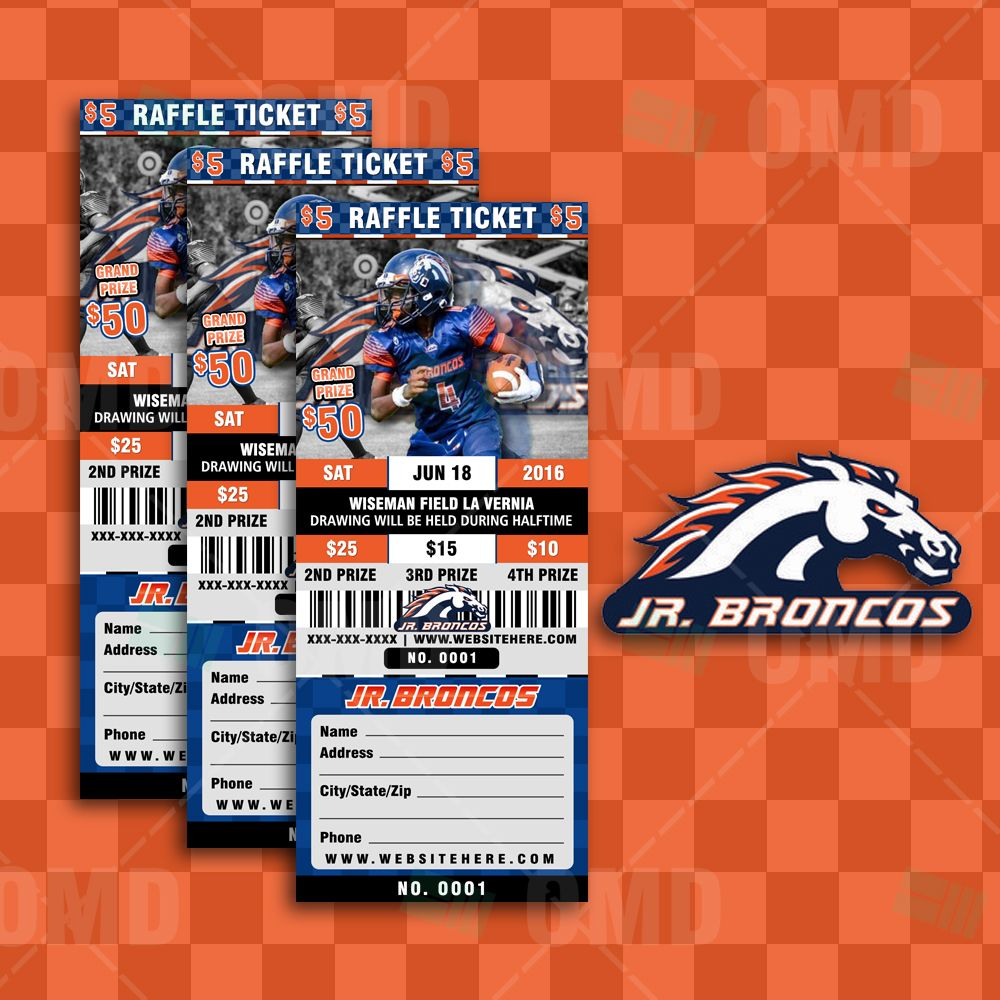 Halftime Football Raffle Ticket Style Template | Template and ...