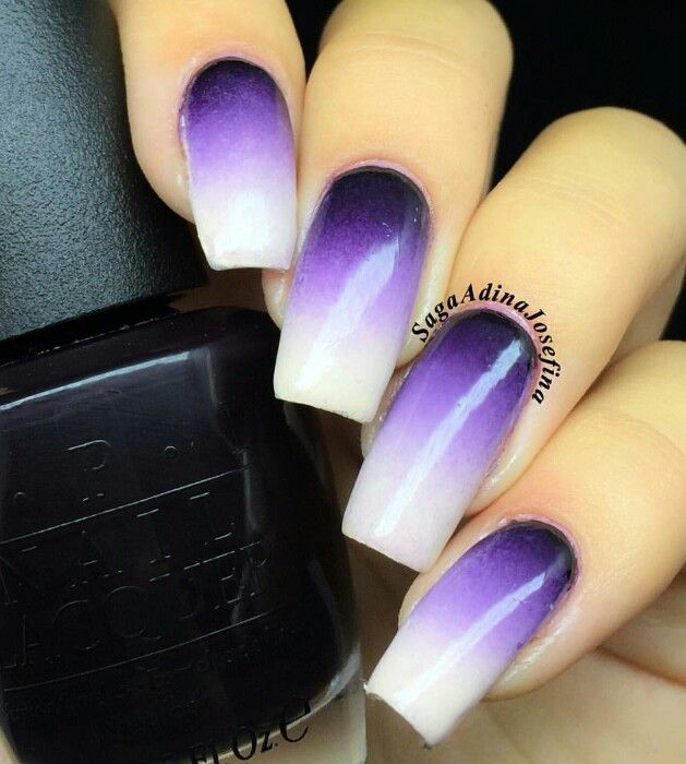 Purple while ombre nails Halloween ideas | Nails ...
